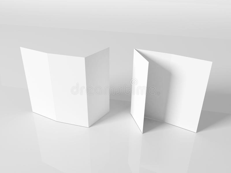 Download Blank White Booklet Template Stock Illustration - Image: 23069939