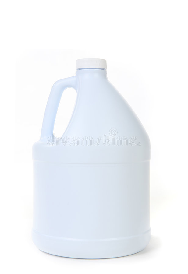Blank White Bottle of Bleach Isolated royalty free stock image