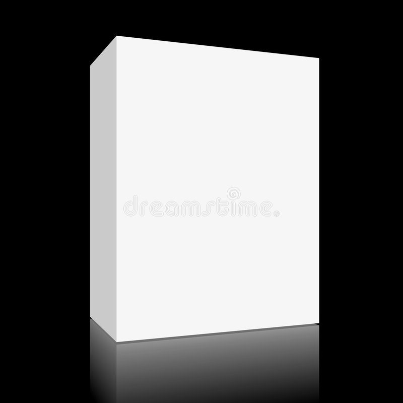 Blank white box on black royalty free illustration