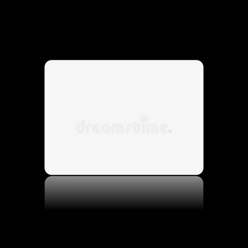 Blank white card on black royalty free illustration