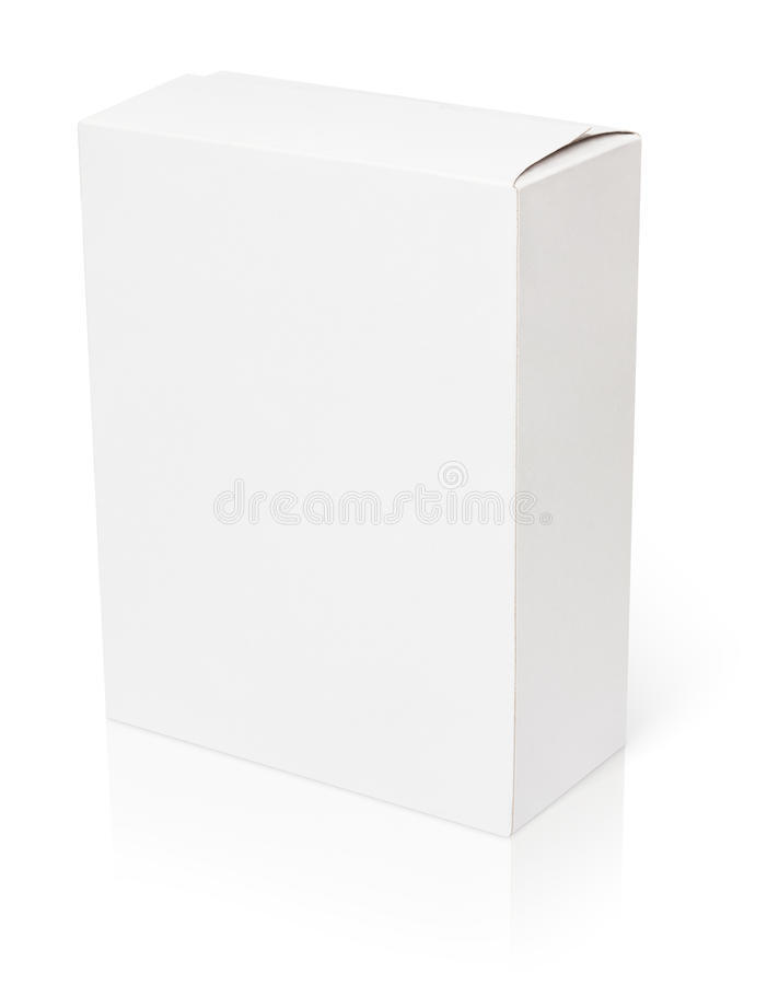 Blank white cardboard box royalty free stock images