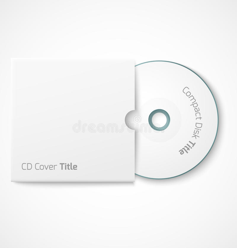 Blank White Compact Disk With Cover Mock Up Stock Vector ...