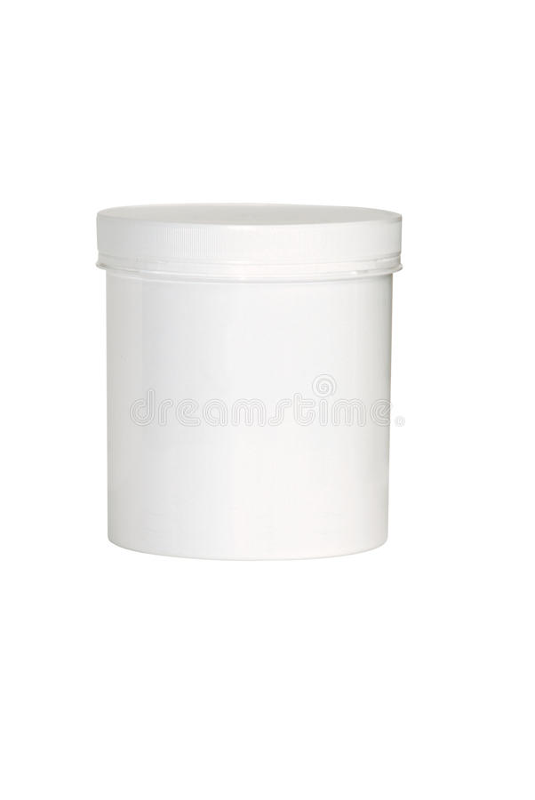Blank white cosmetic container stock photo
