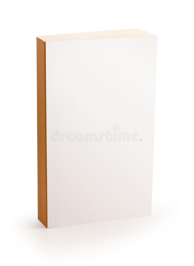Blank white cover book - clipping path stock photo