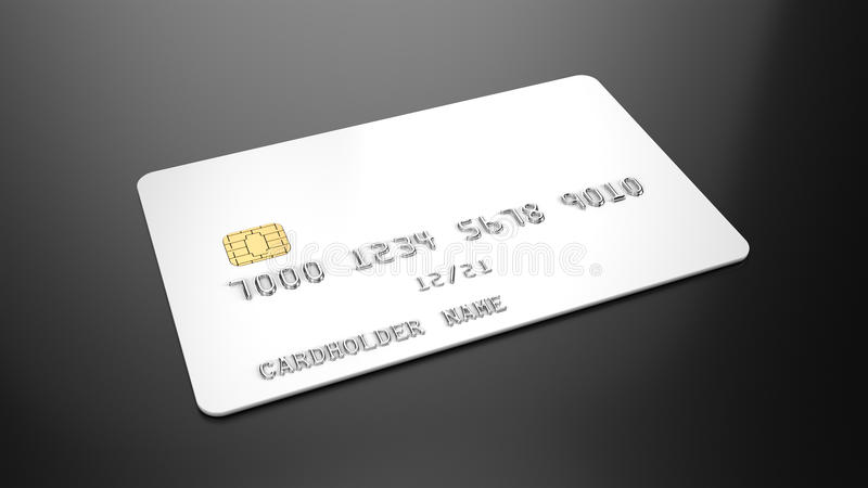 Blank white credit card template on black background vector illustration