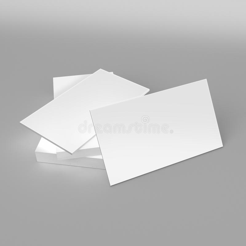 Blank white 3d visiting card template 3d render illustration for download blank white 3d visiting card template 3d render illustration for mock up and design presentation wajeb Gallery
