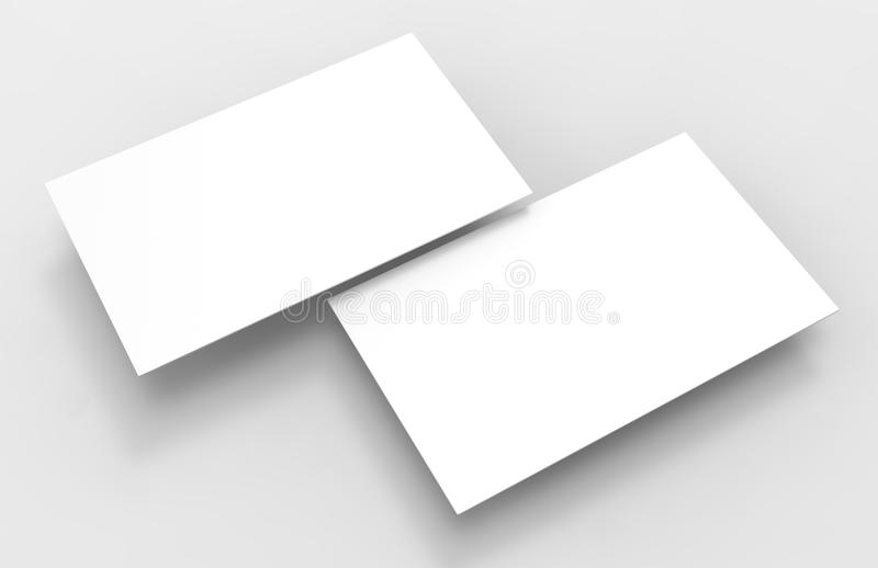 Blank White D Visiting Card Template D Render Illustration For - 3d business card template