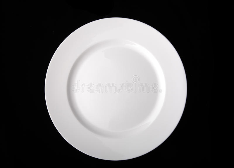 Blank white dinner plate royalty free stock image