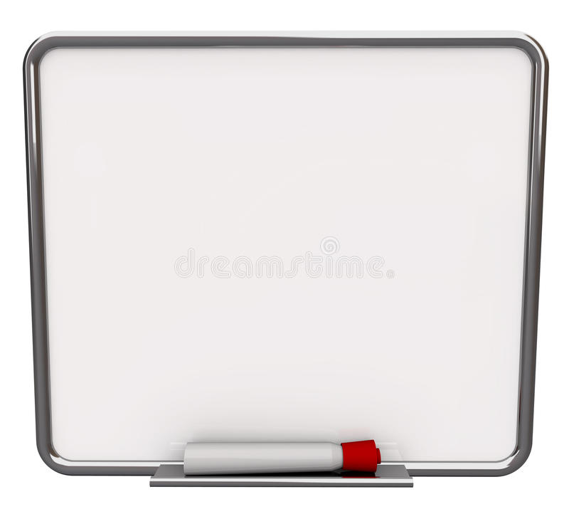 Download Blank White Dry Erase Board With Red Marker Stock Illustration - Image: 11081515