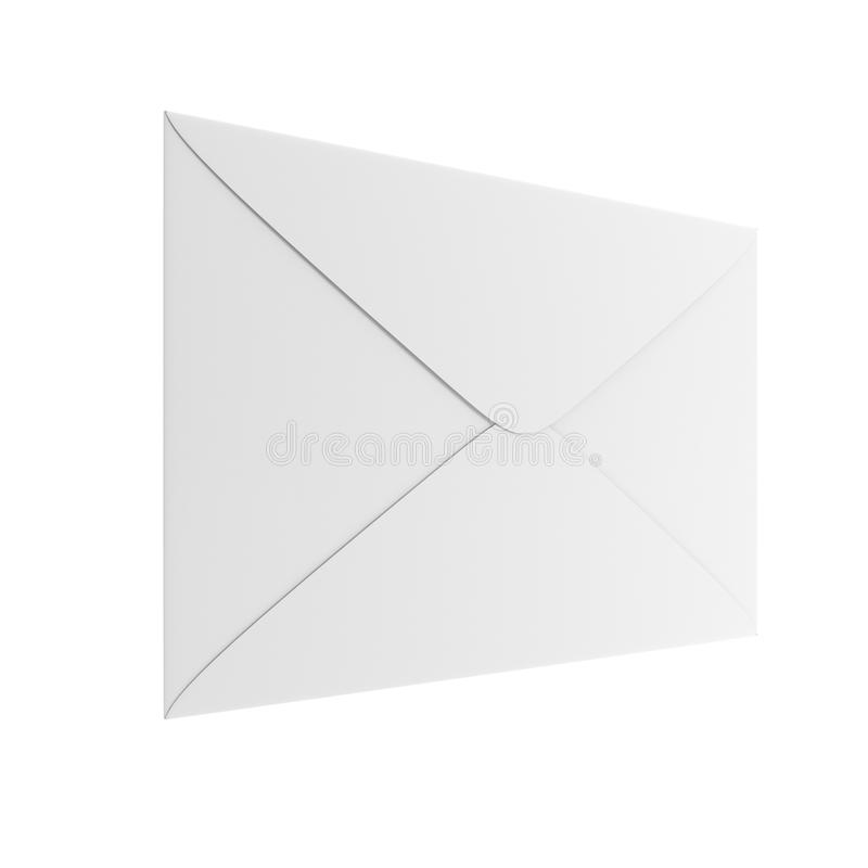 Download Blank white envelope stock illustration. Illustration of button - 27625491