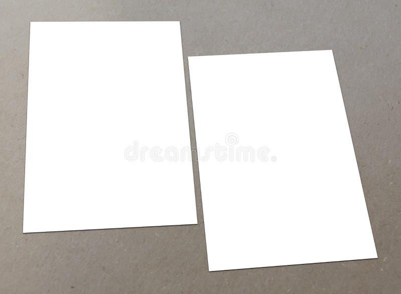 Blank white flyer stock photo