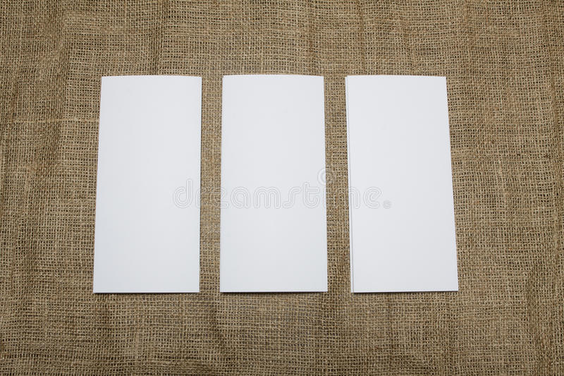 Blank white folding paper flyer. Identity design, corporate templates, company style, set of booklets, blank white folding paper flyer stock images