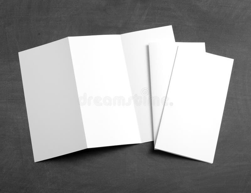 Blank White Folding Paper Flyer Stock Image - Image of advertise ...