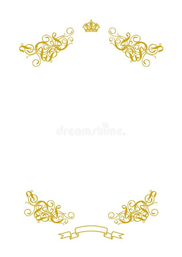 Blank White I royalty free illustration