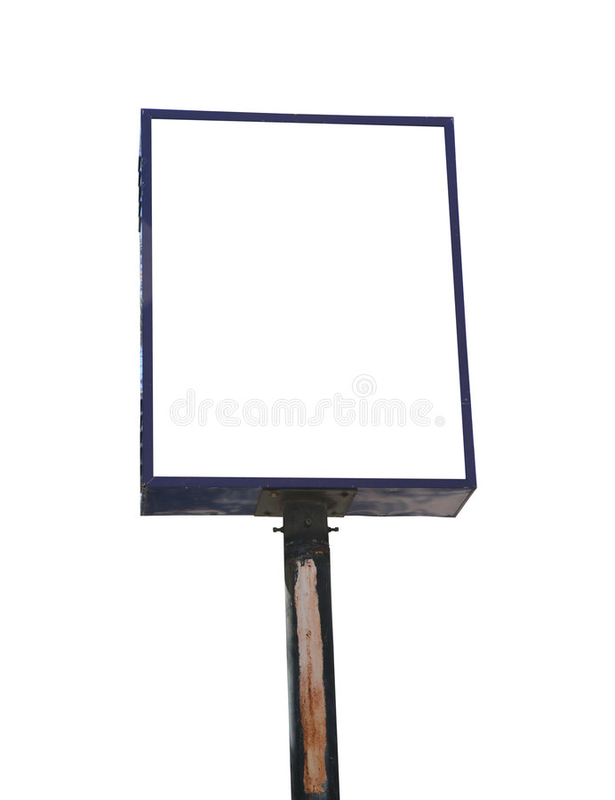 Download Blank White Isolate Road Sign Stock Photo - Image: 8591336