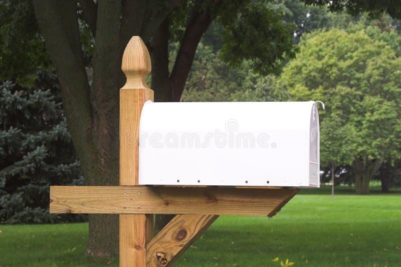 Blank White Mailbox 1 royalty free stock image