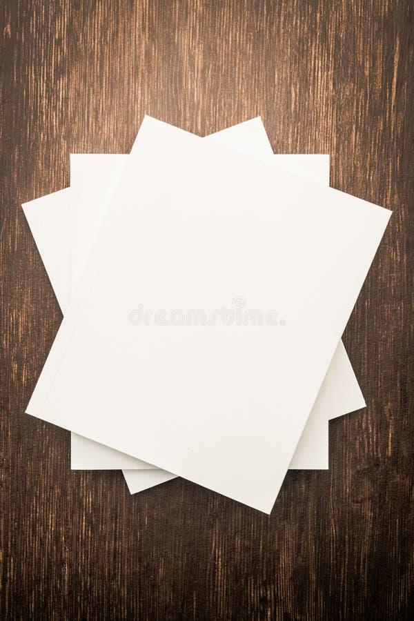 Blank white mock up book stock image
