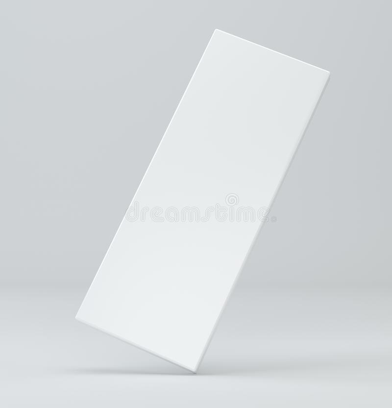 Blank white package on gray background. 3d illustration box template. vector illustration