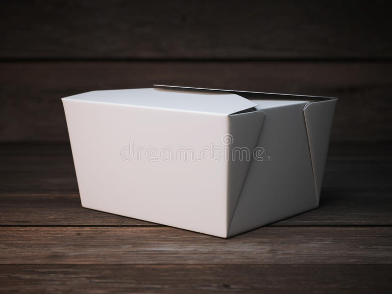 Blank white package on the wooden floor stock images