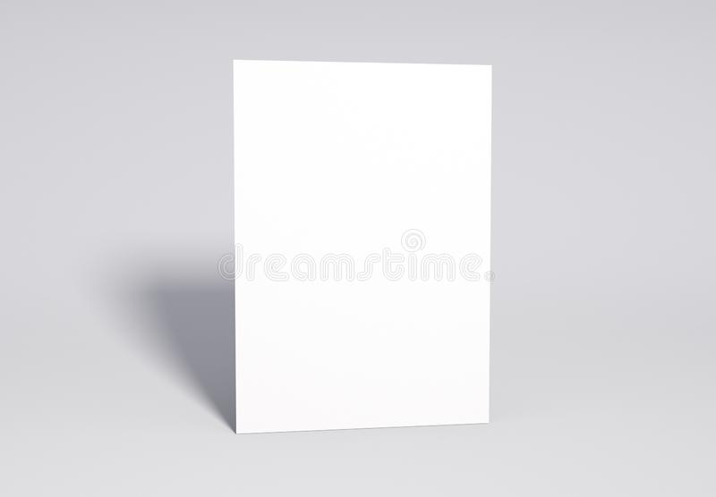 Blank white Page Mock up, 3d rendering. royalty free stock image