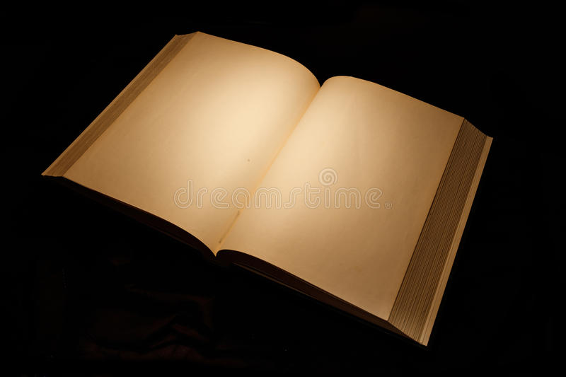 Blank white pages in an open book. Blank white pages in an open hardcover book stock photography