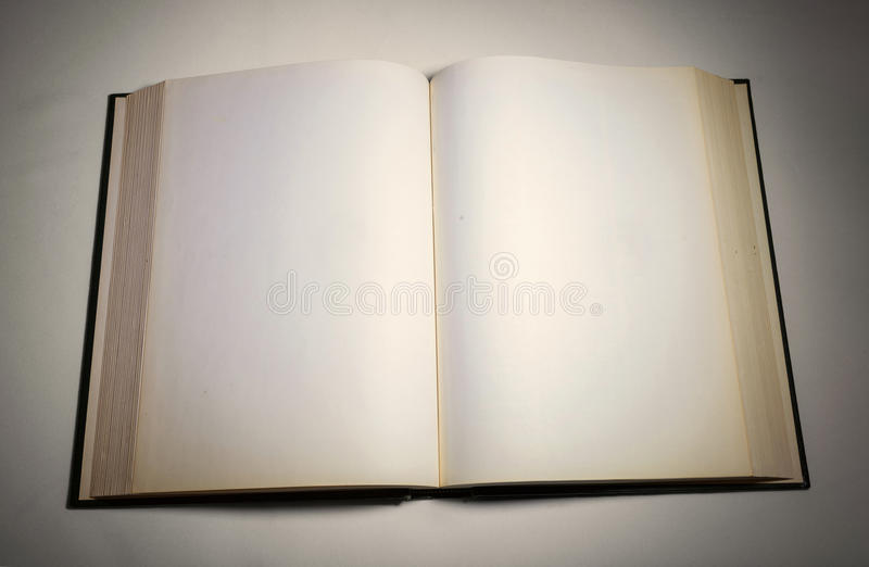 Blank white pages in an open book. Blank white pages in an open hardcover book stock photos