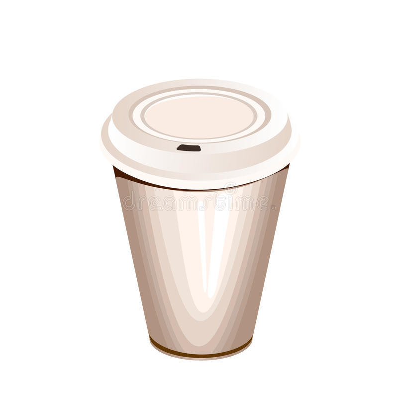 Download A Blank White Paper Coffee Cup Stock Illustration - Image: 23370154