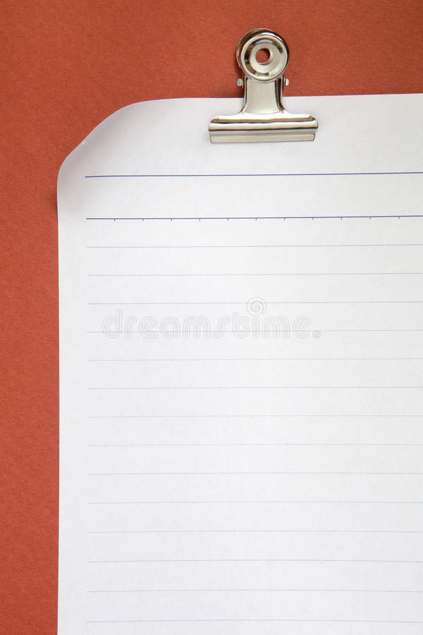Free Blank White Paper On Red Background Royalty Free Stock Photo - 17468505