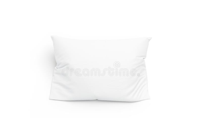 Blank white pillow mockup, isolated, top view. 3d rendering. Empty bedding pad mock up. Clear comfort pilow for sleep template. Soft cushion in cloth for home vector illustration