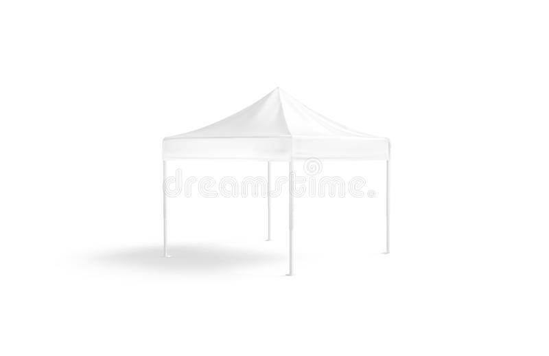 Blank white pop-up canopy tent mockup, isolated royalty free illustration