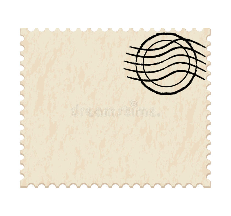 Blank white post stamp vector illustration