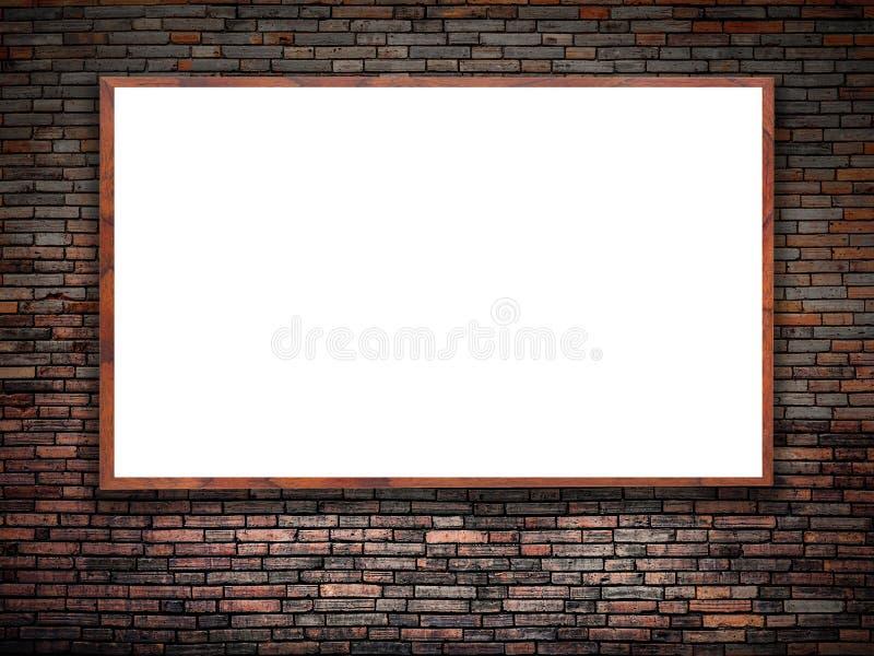 Blank white poster stock illustration