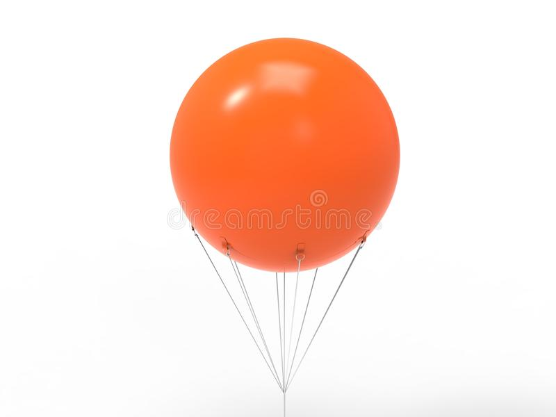 Blank white promotional outdoor advertising sky giant inflatable PVC helium balloon flying in sky for mock up and template design. Blank white promotional royalty free illustration