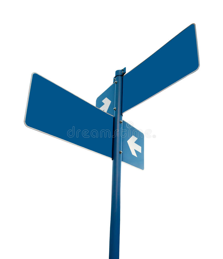 Blank White Road Signs White Background. Stock Photos