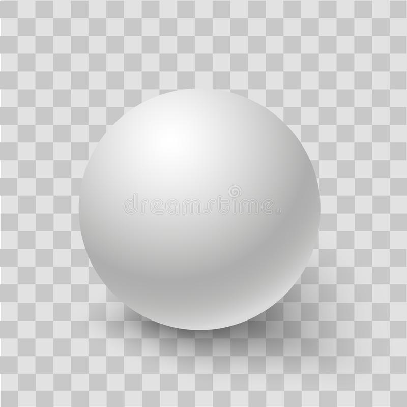 Blank of white round sphere or 3d ball. Vector stock images
