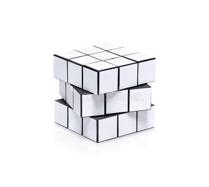 Free Blank White Rubiks Cube Puzzle Royalty Free Stock Photo - 29807595