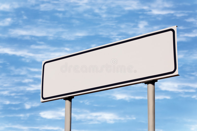 Blank White Signpost Road Sign Guide Post Sky royalty free stock photography
