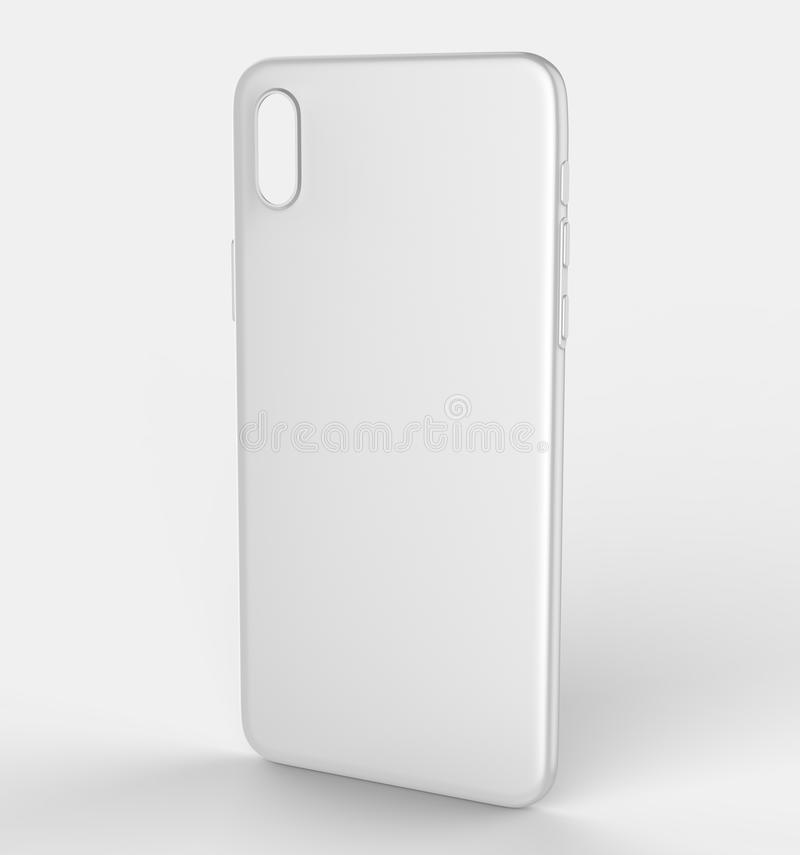 Blank White Smart Phone X Mobile Back Cover Or Case For Design ...