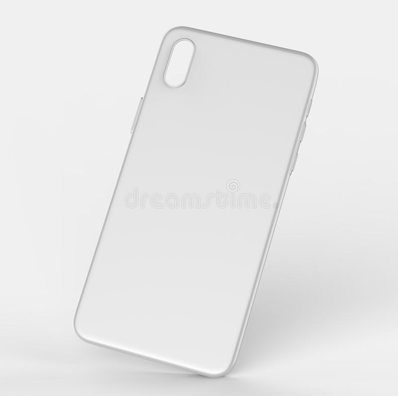 blank white smart phone mobile back cover or case for design