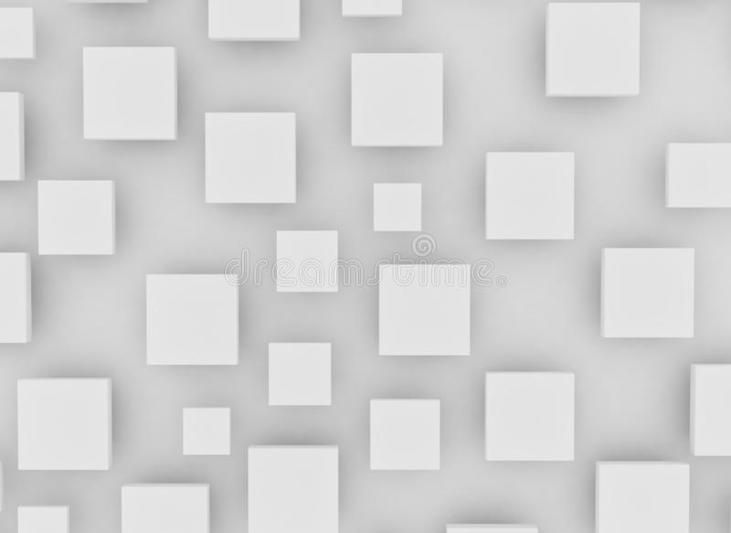 Blank white squares and shadow royalty free stock photos