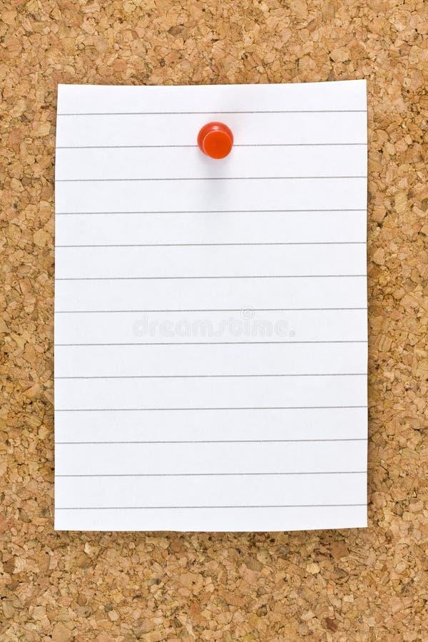 Download Blank White Striped Sheet Cork Board Pushpin Stock Photo - Image: 42278426