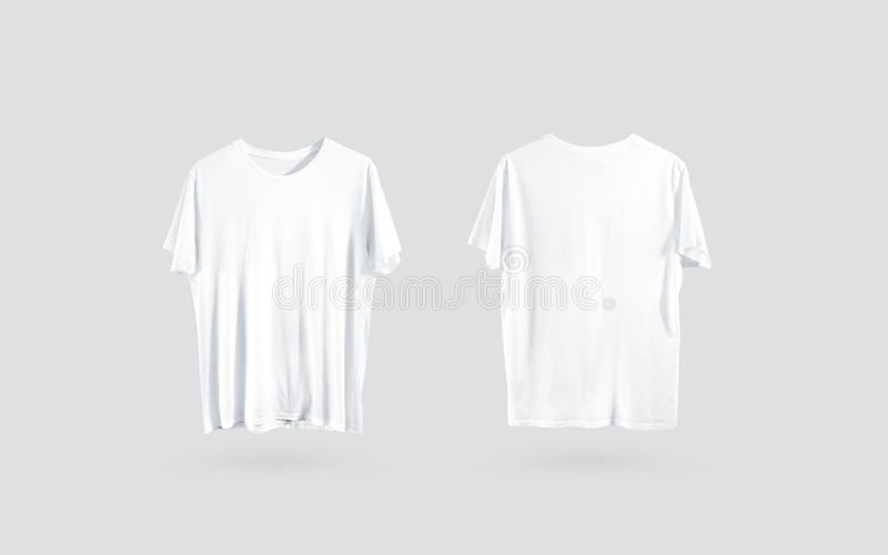 Plain white t shirt front and back