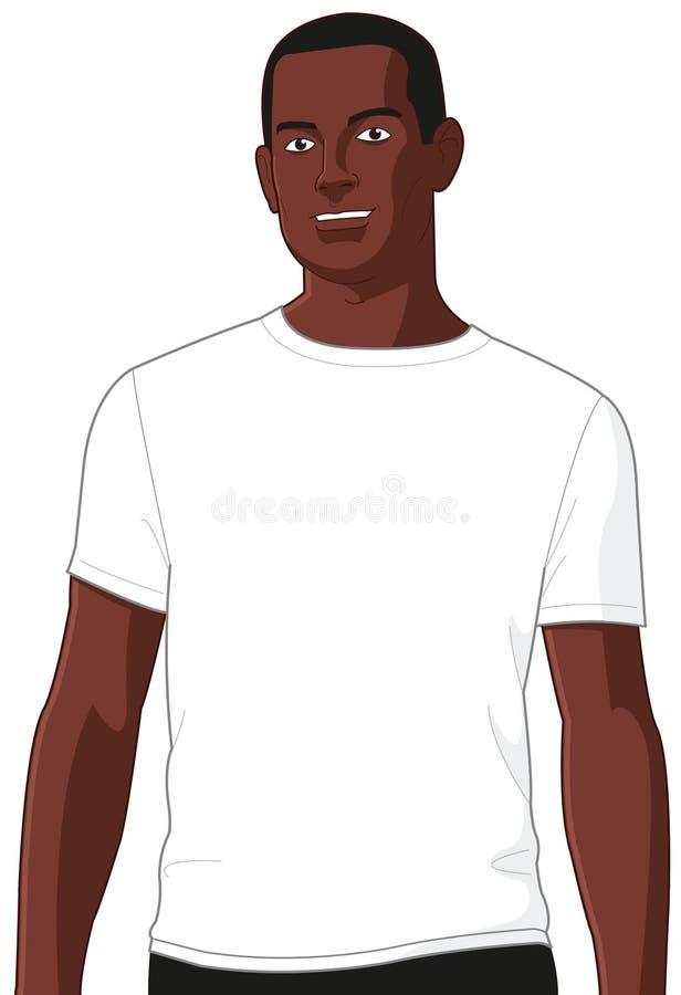 Free Blank White T-shirt Model Man 2 Royalty Free Stock Photography - 14571387