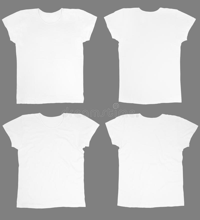 Download Blank white t-shirts stock photo. Image of collection - 22080090