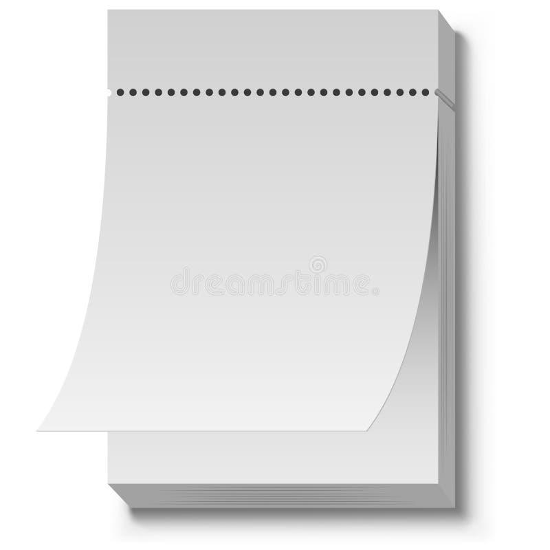 Blank White Tear Off Wall Calendar Stock Vector - Illustration of ...