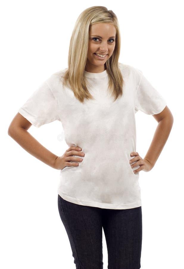 Download Blank white Tshirt stock image. Image of portrait, studio - 15592693