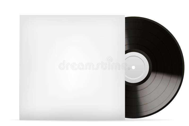 Download Blank white vinyl cover stock vector. Image of case, album - 32074804