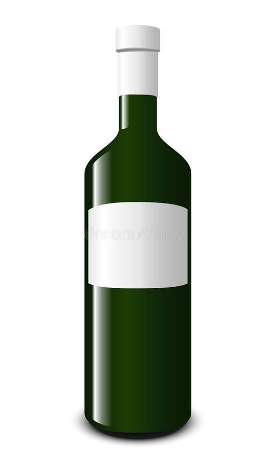 Download Blank white wine bottle stock vector. Image of single - 31649103