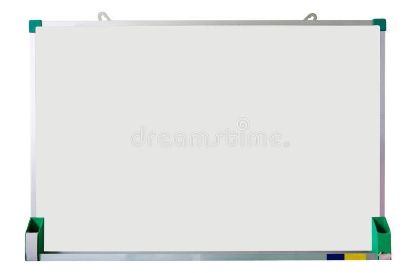 blank white board isolated on white stock images