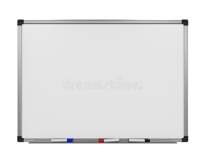Blank Whiteboard. On white background. 3D render vector illustration